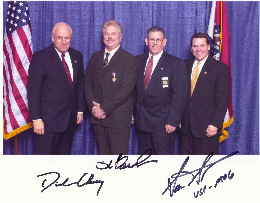 Dr. Barnhart with Vice President Cheney, Sheriff Phillips and Congressman Sam Graves